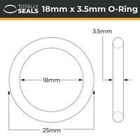 Nitrile 36mm ID x 5mm C//S O Ring Metric. 36x5 Choose Quantity New