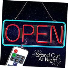 Led Open Sign Business Bluetooth Remote Controls Brightness Speed Led Lights