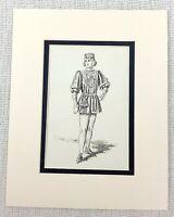 Antico Stampa Shakespearean Costume Duca Frederick's Servant Vittoriano 1889