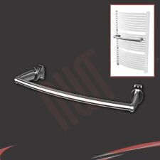 330mm(w) Chrome Curved Towel Bar - fixes to heated towel rail, heater, radiator