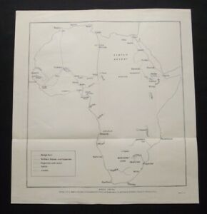 Vintage Map: Africa 1788-1849, A History of Exploration by Sir Percy Sykes, 1934