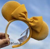 New Disney Parks 2020 Minnie Mickey Ears Headband Dandelion Mustard Yellow WTags