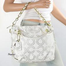 NWT Coach Gilded Op Art Brooke Shoulder Bag Hand Bag Satchel 15002 New RARE