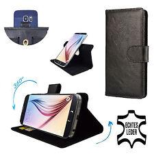 HAIPAI n7889-HQ Véritable Cuir Étui Pour Téléphone Portable - 360 ° Cuir XL Noir