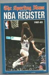 1981-82  The Sporting News NBA Register----Dr. J  VG