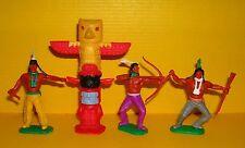Timpo 3x Indianer G2 Totempfahl Krieger Waffen Zubehör Western Wildwest Toys (5)