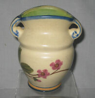 """WELLER POTTERY Vintage Double Handle Vase  5 1/2"""" Tall"""