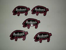 5 x NEW BODEAN'S BBQ HOG ROAST PORK PIG ANIMAL FARM COLLECTABLE FRIDGE MAGNETS