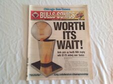 Vintage Chicago Sun-Times Sports June 17th, 96' NBA Chicago Bulls Newspaper