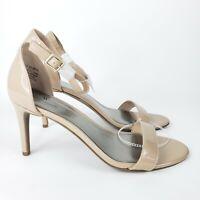 Worthington Bristol Tan Patent Leather Heels Ankle Strap Open Toe Women's 11M