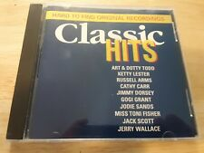 Classic Hits Hard To Find Original Recordings CD Compact Disc