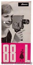 Bauer Prospekt BAUER 88 L Schmalfilmkamera Broschüre (X2185