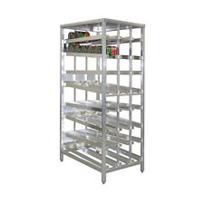 New Age 97294 First In First Out Stationary Can Rack W/ 156 #10 Can Capacity