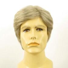Perruque homme 100% cheveux naturel blanc méché gris ref BERNARD 51