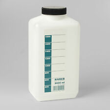 KAISER 4194 2 LITRE PHOTOGRAPHIC CHEMICAL STORAGE BOTTLE TRANSLUCENT WHITE 2LTR