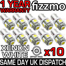 10x 433c 434 bax9s h6w Tapado 5 Smd Led 6000k Xenon lado blanco bombilla de luz del Reino Unido