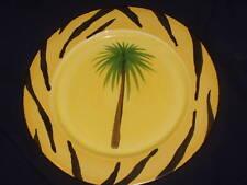 "MOSAIC PALM SPRINGS CA CALI PALM TREE ZEBRA 12"" LARGE PLATE"