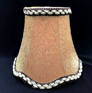 Fuloon European Style Candle Wall Sconce Chandelier Lamp Shade Gold & Red Leaves