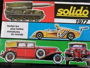 catalogue original SOLIDO 1977