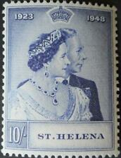 St Helena 1948 GVI Silver Wedding 10/- SG 144 u/mint