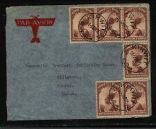 Belgian Congo, Kikwit cancel cover to Us 1939 Kl0417
