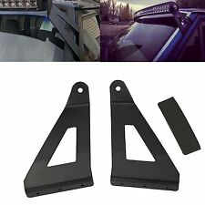 """50"""" Inch Curve Light Bar Upper Roof Windshield Mounting Brackets for Jeep XJ"""