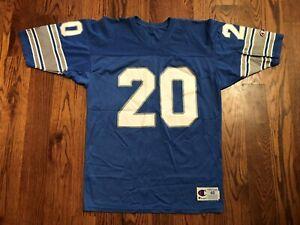 Barry Sanders #20 Detroit Lions Vintage Champion Football Jersey Size 48 EUC VTG