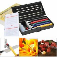 Knife Sharpener Deluxe 5 Whetstones Set Sharpening System Grindstone Blade Kit