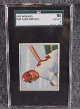 Vintage Baseball Card MLB 1950 Bowman SGC 88 NM/MT 8 Andy Seminick Only 3 Higher