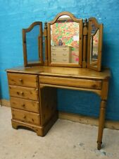 DUCAL VICTORIA DOVETAILED SOLID WOOD 5DRAWER DRESSING TABLE +MIRROR -MSEE SHOP