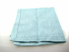 """DECOSTYLE NEW Turquoise Linen Cloth Napkins 19 x 20"""" SET OF 5 Dining Kitchen"""