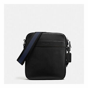 NEW COACH MENS CHARLES FLIGHT BAG IN SMOOTH LEATHER F54782 BLACK