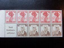 1935,THIRD REICH, WELFARE FUND BOOKLET PANE, 3+2pf x 4 & 12+6pf x5, MNH, VF.