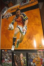 Benji Marshall signed West Tigers large NRL Player Poster + COA  (#444)