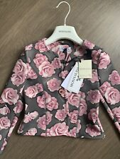 New Monnalisa Neoprene Rose Jacket Size 5-6 Years