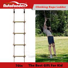 Kid Outdoor Climbing Rope Ladder Ninja Ladder Toy Ninja Warrior Obstacle Course