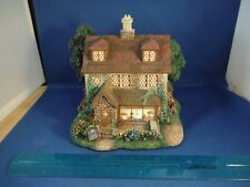 Thomas Kinkade Hawthorne Village Lighted Wiltshire Pastry Shop House Sculpture