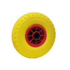 Ruota gialla antiforatura pu piena carriole carrelli cerchio in plastica 260x85