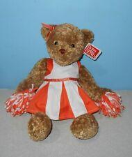 "Gund Cheerleader Poms Named Rachel White & Orange Colors Outfit 11"" Bean Plush"