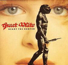 "GREAT WHITE heart the hunter/all over now CL 555 uk capitol 1989 7"" PS EX+/EX"