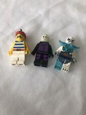 3 Minifiguras Lego sólo pirata, Guasón, Yeti