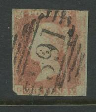 IRELAND PENNY RED IMPERF...FAULTS...391 NUMERAL of RATHKEALE