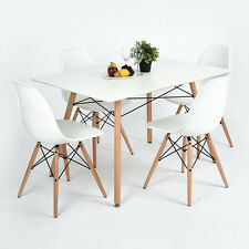 New Arrivals 120cm Length White Dining Table for Living Room Kitchen & Office