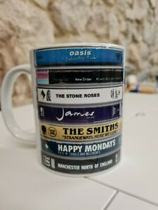 Manchester Music Tapes Mug / Cup Oasis The Smiths Stone Roses James New Order