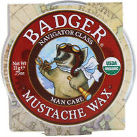 Man Care Mustache Wax by Badger, 0.75 oz