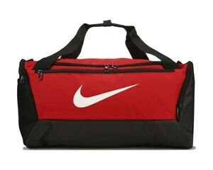 Nike Brasilia 41L Red Training Gym Duffle Bag - Small