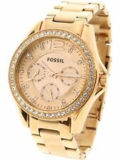 7a7eb0800908 Fossil Women s Riley ES2811 Rose-Gold Stainless-Steel Analog Quartz Fashion  ...