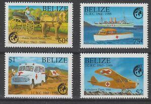 Belize 1988 #906-09 International Red Cross, 125th Anniversary - MNH