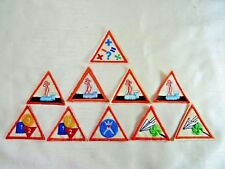 10 Assorted Retired Girl Scouts Brownies Try-Its Patches Dark Orange Border