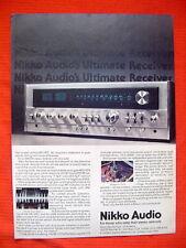"""Nikko Audio NR-1415 AM/FM receiver promo advertisement """"Audio"""" 6/78"""